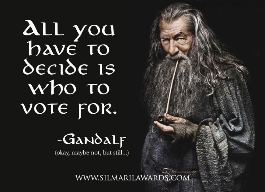 gandalf, middle earth, Tolkien characters, Tolkien awards, fantasy book awards, best fantasy characters, best book characters, middle earth characters, silmaril awards, silmaril awards 2021,